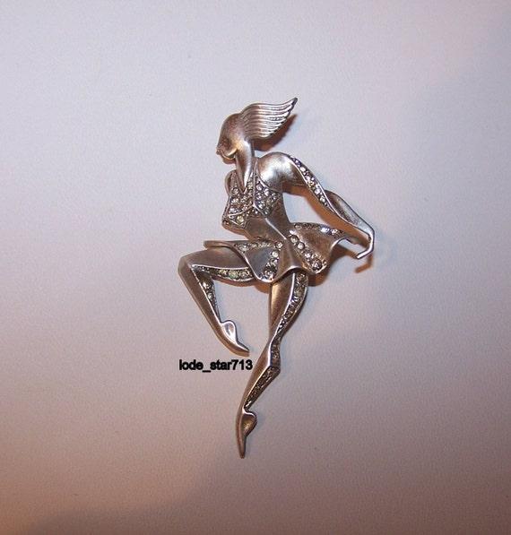 Vintage Classic Art Deco Ballerina Sterling Silver