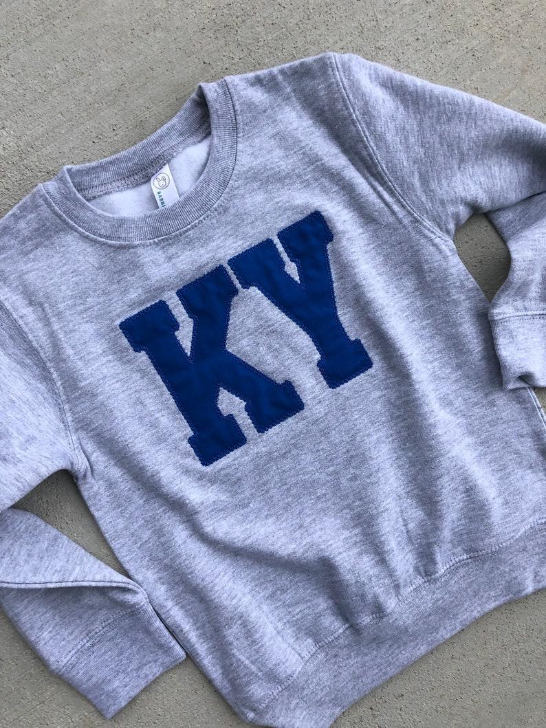 Kentucky shirt Ky sweatshirt CATS Applique, Adult Kentucky sweatshirt Youth Toddler UK sweatshirt Kentucky State sweatshirt