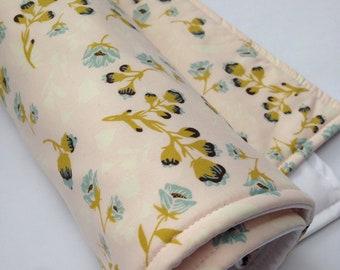 Portable Waterproof Baby Change Mat - Vintage Floral in Pink