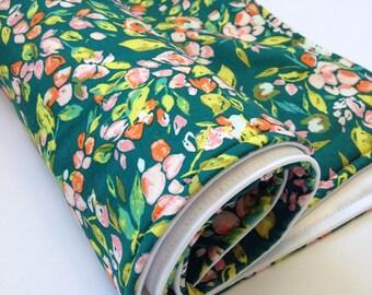 Portable Waterproof Baby Change Mat in Fairy Garden Green