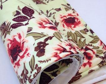Portable Waterproof Baby Change Mat in Mint Vintage Rose