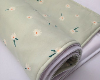 Portable Waterproof Baby Change Mat - Mint Floral