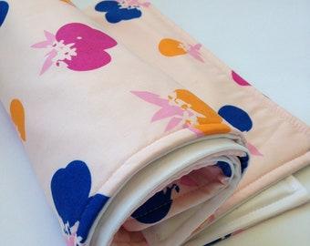Portable Waterproof Baby Change Mat - Cherry Pop Print