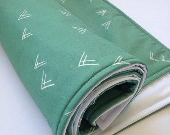 Portable Waterproof Baby Change Mat in Aztec Green