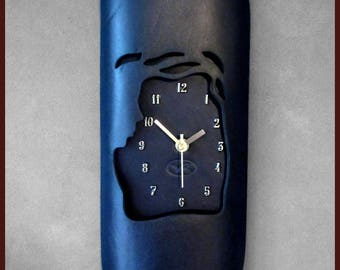 Handmade Leather Wall Clock RRP AUD 112.00 |Unique Gift | WHOLESALE Price