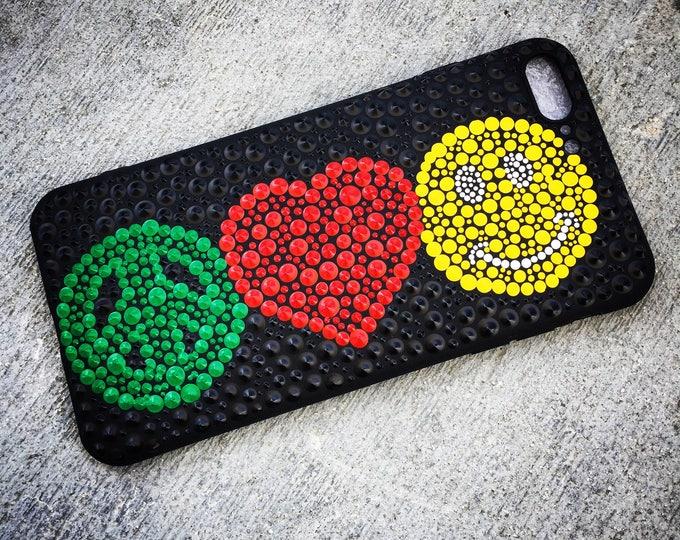 Peace Love Smile Phone Case