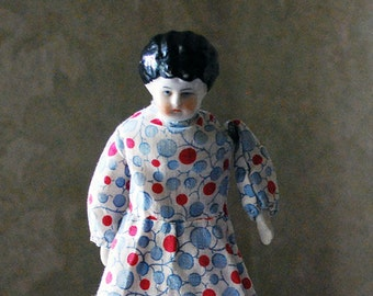 Antique Lowbrow China Doll German Made 1885 - 1905