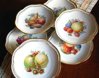 Schumann China Dessert/Salad Plate made in Arzberg Germany Circa 1950's Set of Six