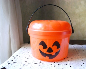 1986 McDonald's McPunk'n  Halloween Pail, Trick or Treat  Happy Meal Bucket with Handle