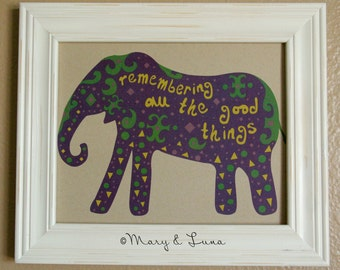 Elephant- 8x10 Digital Print