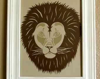 Lion- 8x10 Digital Print