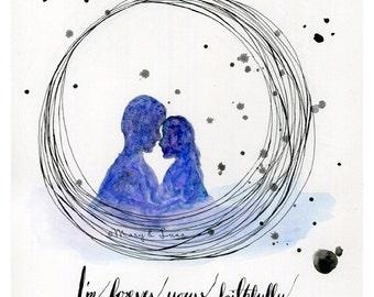 forever yours, faithfully: 8x10 Digital Print