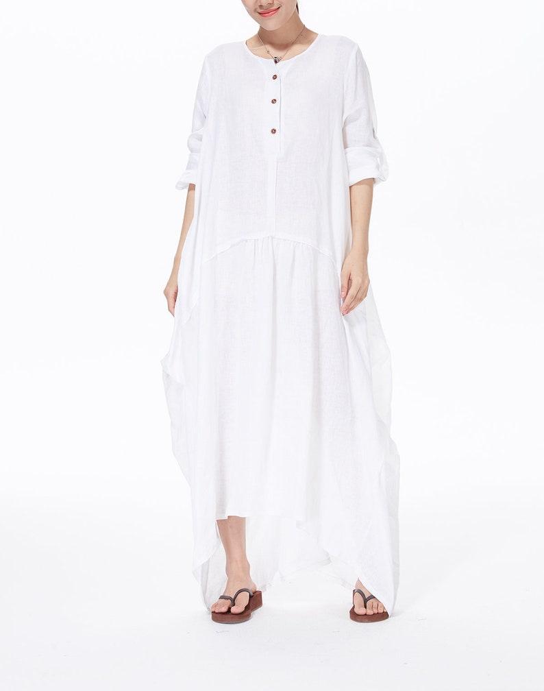 84e1bc10ce2 Vintage Baggy Plus Size Dress Handmade Kaftan Dress Casual