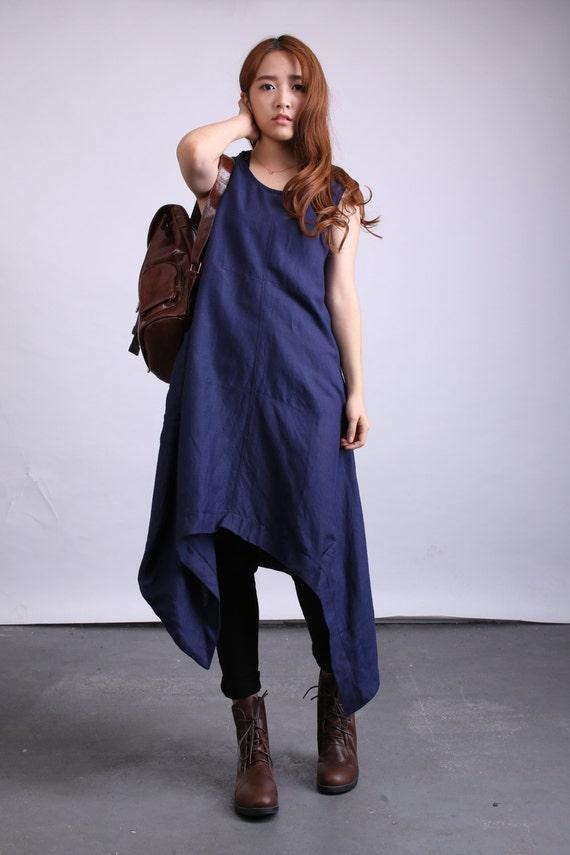 pullover linen 80524 maxi dress plus Summer fitting clothing size long loose dress U6ntn7RO