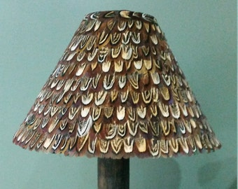 Feather lamp shade etsy 23 25cm pheasant feather lamp shade lampshade coolie aloadofball Gallery