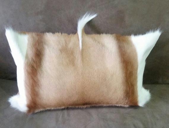 hide skin pelt bolster cushion pillow