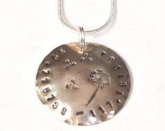 Sterling Silver Coordinate Dandelion Fluff Necklace