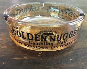 Vintage Glass Golden Nugget Hotel / Downtown Las Vegas / Nevada / Gambling Hall