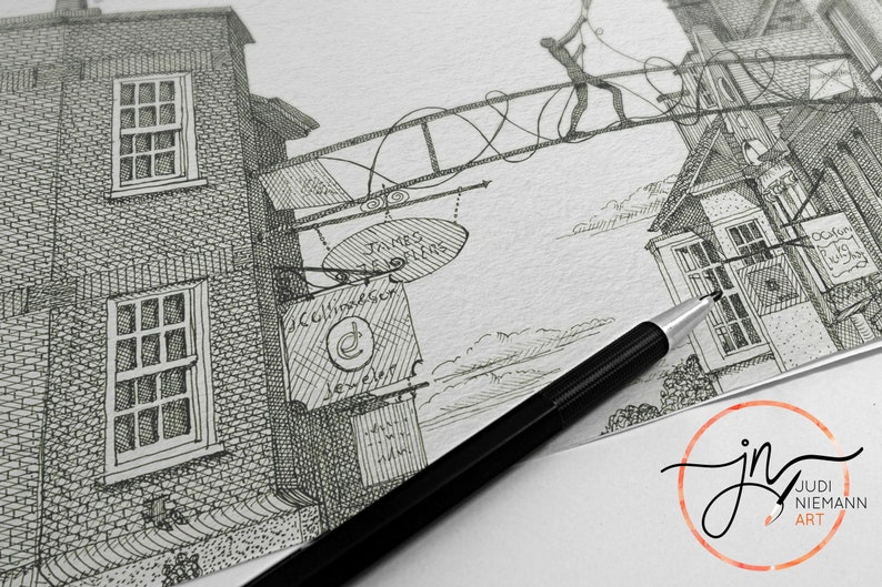 Realtor Gift Artist For Hire Custom Illustrator Drawing From Photo Custom House Portrait Commission Pen And Ink Save The Date Wedding Art