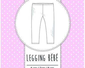 Pack 3 sizes - 6 years / 7 / 8 - pattern baby leggings