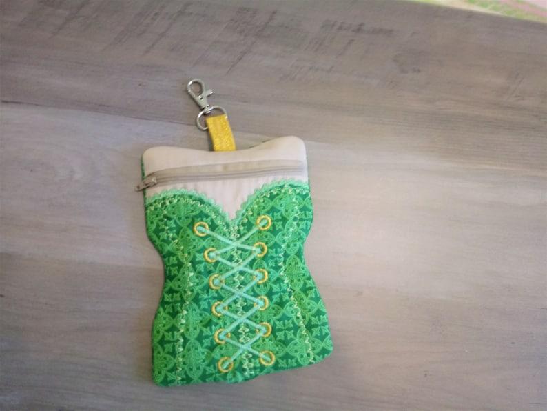 Celtic Pouch Celtic purse Corset zipper pouch Celtic bag Celtic corset bag