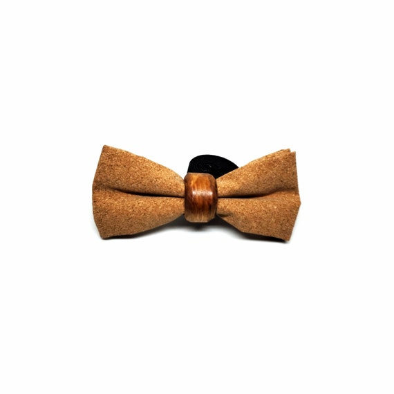 Cork and Wood Bowtie Bow tie Recycle