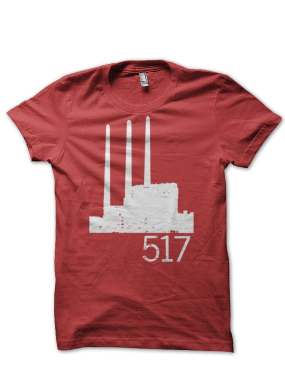 517 Smokestacks red t-shirt