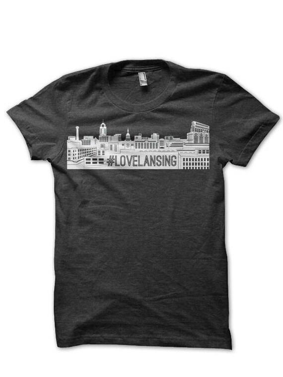 lovelansing hashtag t-shirt