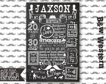 Western Party - Cowboy Party - Western Birthday - Cowboy Birthday - Western Birthday Chalkboard - Cowboy Birthday Party - Little Cowboy