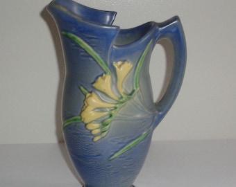 CAMBRIDGE Art Pottery 12 Large Pitcher Tankard Blended Glaze Ohio Ca 1900