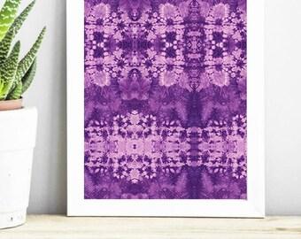 All Over Purple Shibori Print 8.5x11