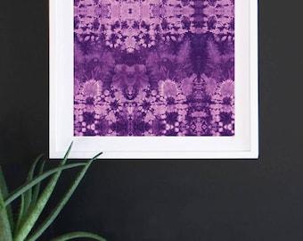 All Over Purple Shibori Print 11x17