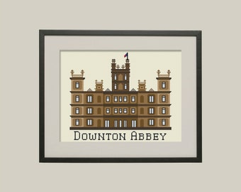 BUY 2 patterns and GET 1 FREE--Downton Crossstitch Pattern inspired by the series