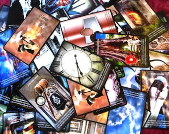 ORACLE CARDS by Endless Skys, 72 super large size, original artwork, meanings included on the card. Tarot cards, Angel Cards, Divination.