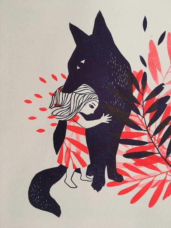 little girl - wolf