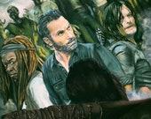 Walking Dead ART PRINT...