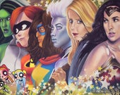 Female Superheroes ART PR...