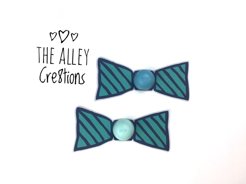 Printed Bow Tie Cards For EOSRevo Placement Lip Balm Baby Shower Favors
