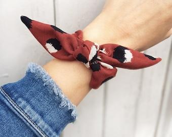 Anita - Bracelet noeud en tissu girly chic
