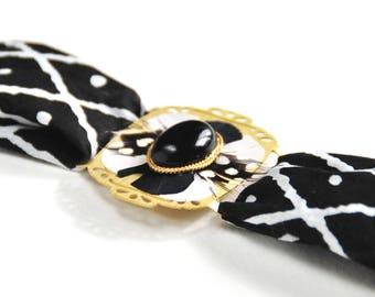 Gemma - Bracelet art déco onyx noir
