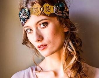 Stella - Bandeau, turban cheveux, headband, liberty, fruits