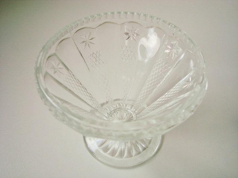 set of 4 clear glass dessert dishes small sundae glasses