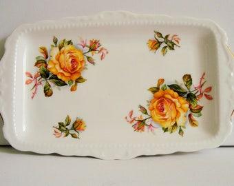 Royal Kent yellow rose sandwich - vanity tray