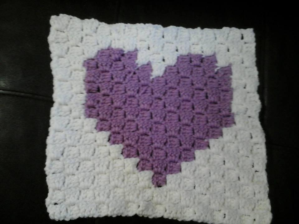 C2C corazón Crochet patrón