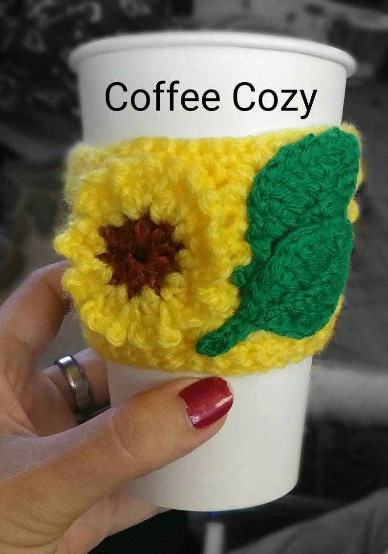 Sunflower coffee cozie image 0