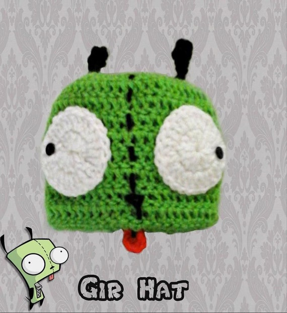 Invader Zim Gir Crochet Beanie Etsy