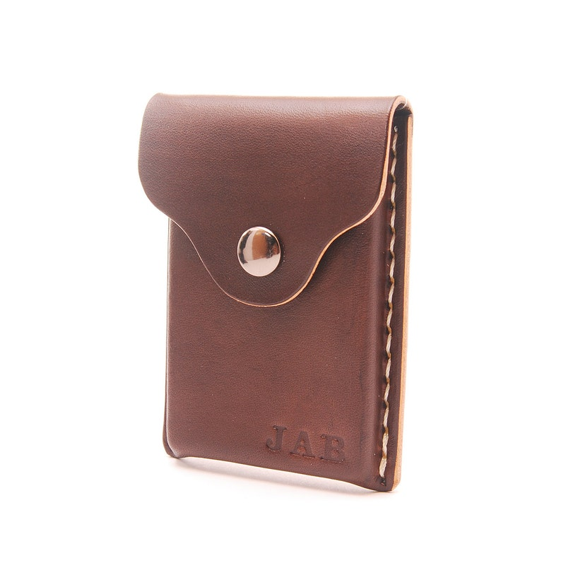 personalized handmade leather business card holder card