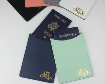 Wedding Passport Holder | Mr and Mrs Gift | Mr and Mrs Passport Holder | Honeymoon Gift | Passport Case | Destination Wedding |