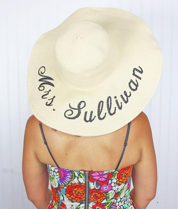 Personalizzato cappello floscio Monogrammato spiaggia Floppy  0ed8454b86cc