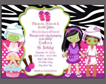 Makeup Invitation Etsy